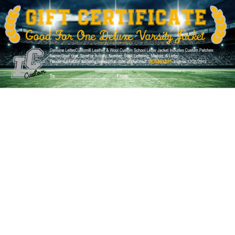 Gift Certificate Deluxe Letter Jacket