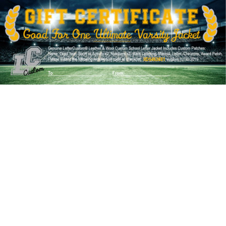Gift Certificate Ultimate Letter Jacket
