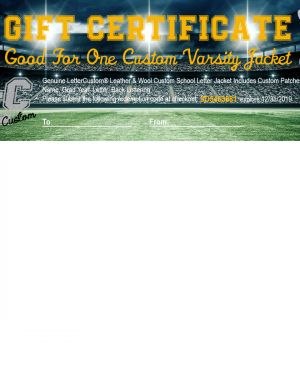 Gift Certificate Classic Letter Jacket