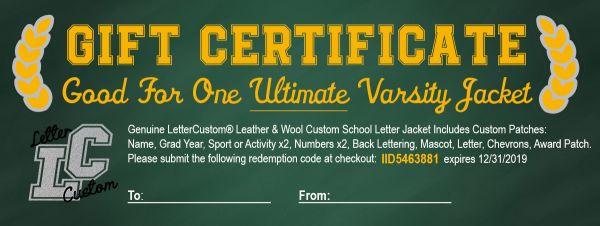 gift_certificate_lettercustom_ultimate-600x226 Edible Varsity Letter Certificate Template on